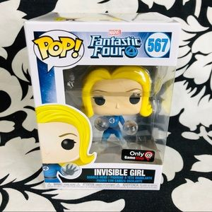 Funko Pop Fantastic 4 Invisible Girl Gamestop Exc
